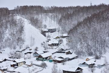 Residential area of Tobolsk, Russia