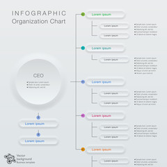 Infographics Vector Background #Organization Chart