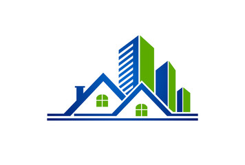 modern building and house vector