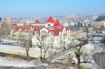 Виды зимнего Владивостока