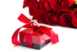 valentine's day Red roses and ring box