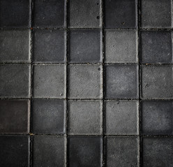 Dark Tiled Mosaic Pattern Decoration Style Texture Concept