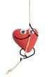 Heart character climbing