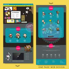 vivid one page website template design