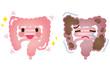 Leinwandbild Motiv 健康な大腸 便秘の大腸