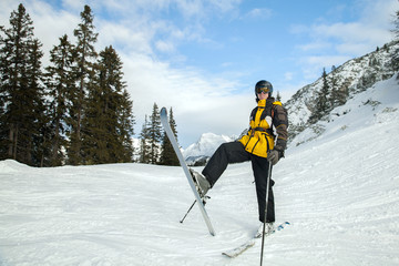 skier in the mountains, Austrian Alps