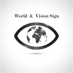 Global vision sign,eye icon,search symbol,business concept