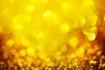 Golden defocused lights background