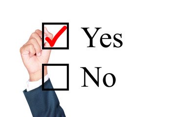 say yes tick mark on checkbox