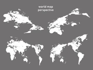 世界地図・パース - world map -