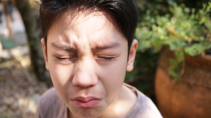 Little Asian child crying