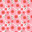 Abstract elegance seamless pattern pink flowers background