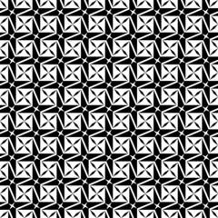 Black and white geometric seamless pattern, modern stylish.