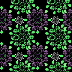 Ornamental seamless pattern geometric elements texture backgroun