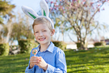boy at easter time