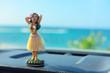 Hawaii road trip - car hula dancer doll - 76876608
