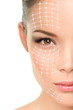 Leinwanddruck Bild - Face lift anti-aging treatment - Asian woman