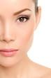 Beauty face closeup - Asian woman