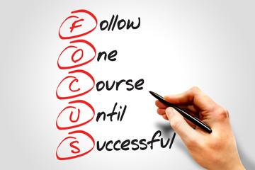 FOCUS, business concept acronym