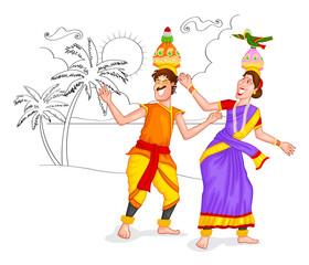 Dancing Tamil couple