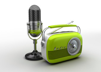 Microphone and  radio