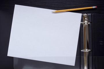 Office folder with plastic pocket