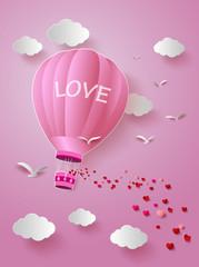 Hot air balloon with love