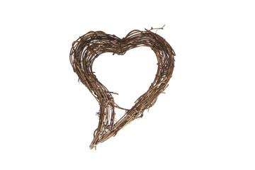 Herz aus Naturholz zum Valentinstag
