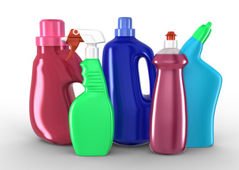 Plastic detergent bottles Cleaning products