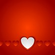 Red romance background with hearts