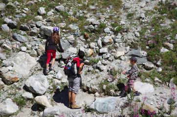 randonnée en montagne - pierrier