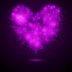 Shiny lights abstract vector heart