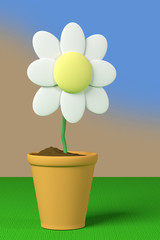 flower and pot