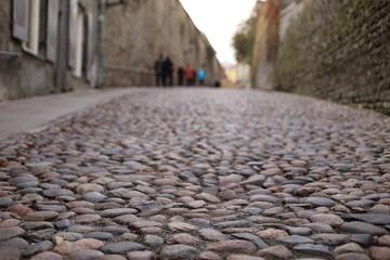Cobblestone road in Old Tallinn