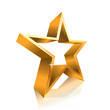 star contour made of gold