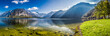 Big panorama of crystal clear mountain lake in Alps - 76881691