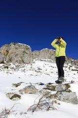 Observation en montagne, randonnée