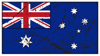 Australian Flag Grunged