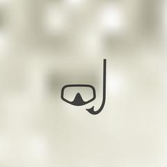 scuba icon on blurred background