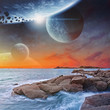 Beach planet landscape - 76882265