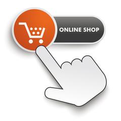 Online Shop Button Hand Cursor