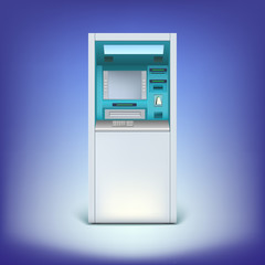 atm isolated on background