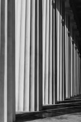 Abstract structure of grey columns-Vienna, Austria