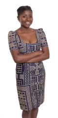 Schöne Frau aus Afrika in traditioneller Kleidung