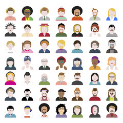 Diversity People Portrait Design Avatar Vector Concept
