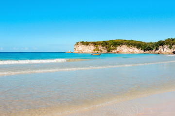 Exotic caribbean beach