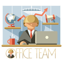 Flat Office Team Director