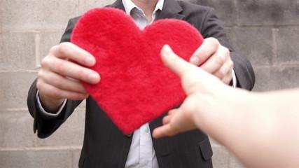 Man Gives Away His Heart