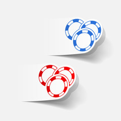 realistic design element: casino chips