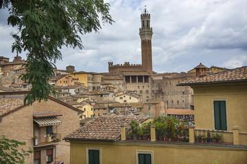paesaggio di Siena, Italia
